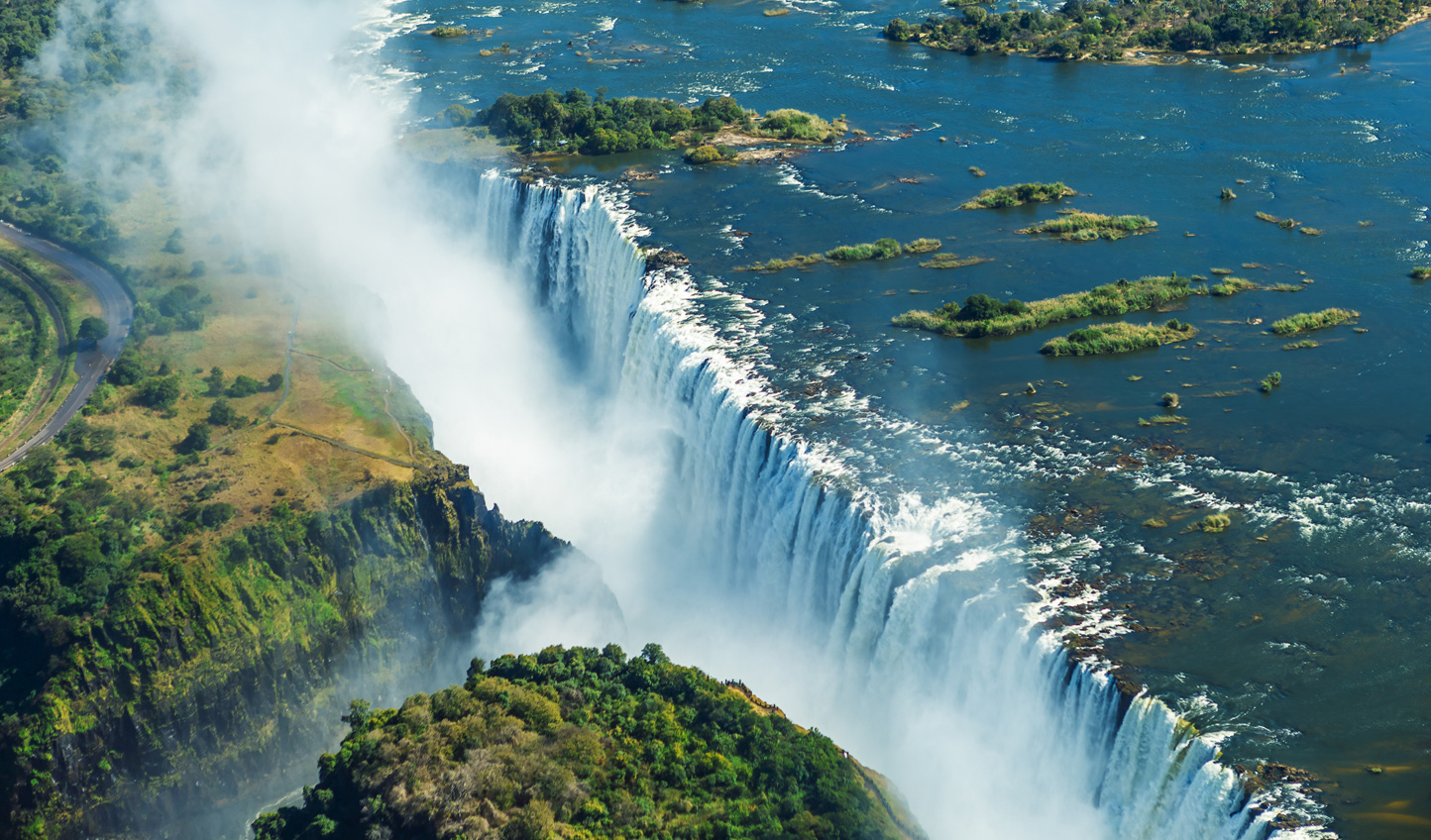 The grand finale- a helicopter ride over Victoria Falls