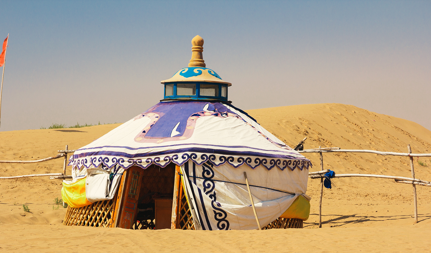 Depart from your yurt and head to the sand dunes for a sunset you won't want to miss