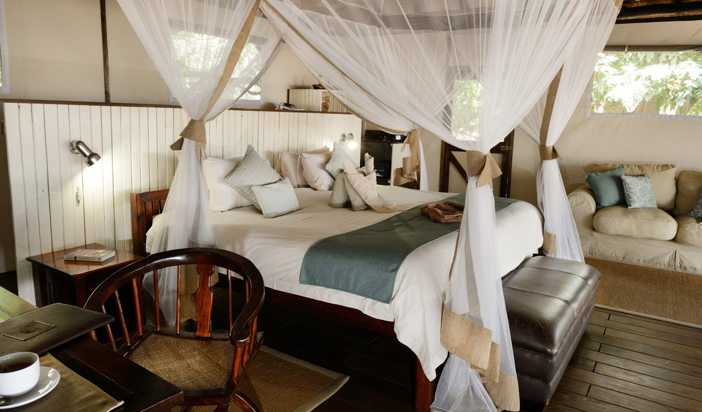 Super-king-size beds and fine Egyptian linen means there is no compromising on luxury