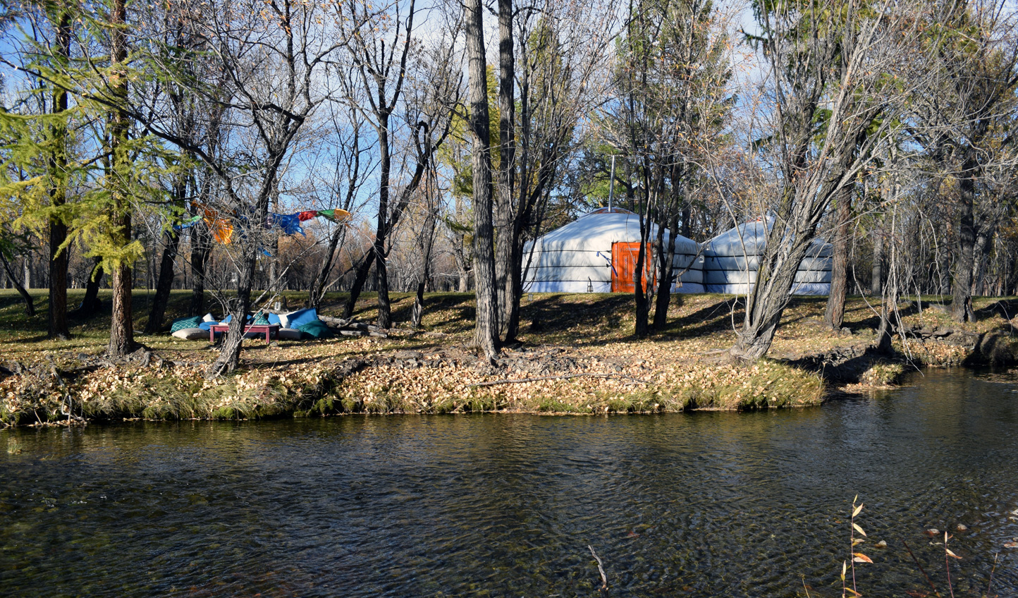 Camp beside the riverbank