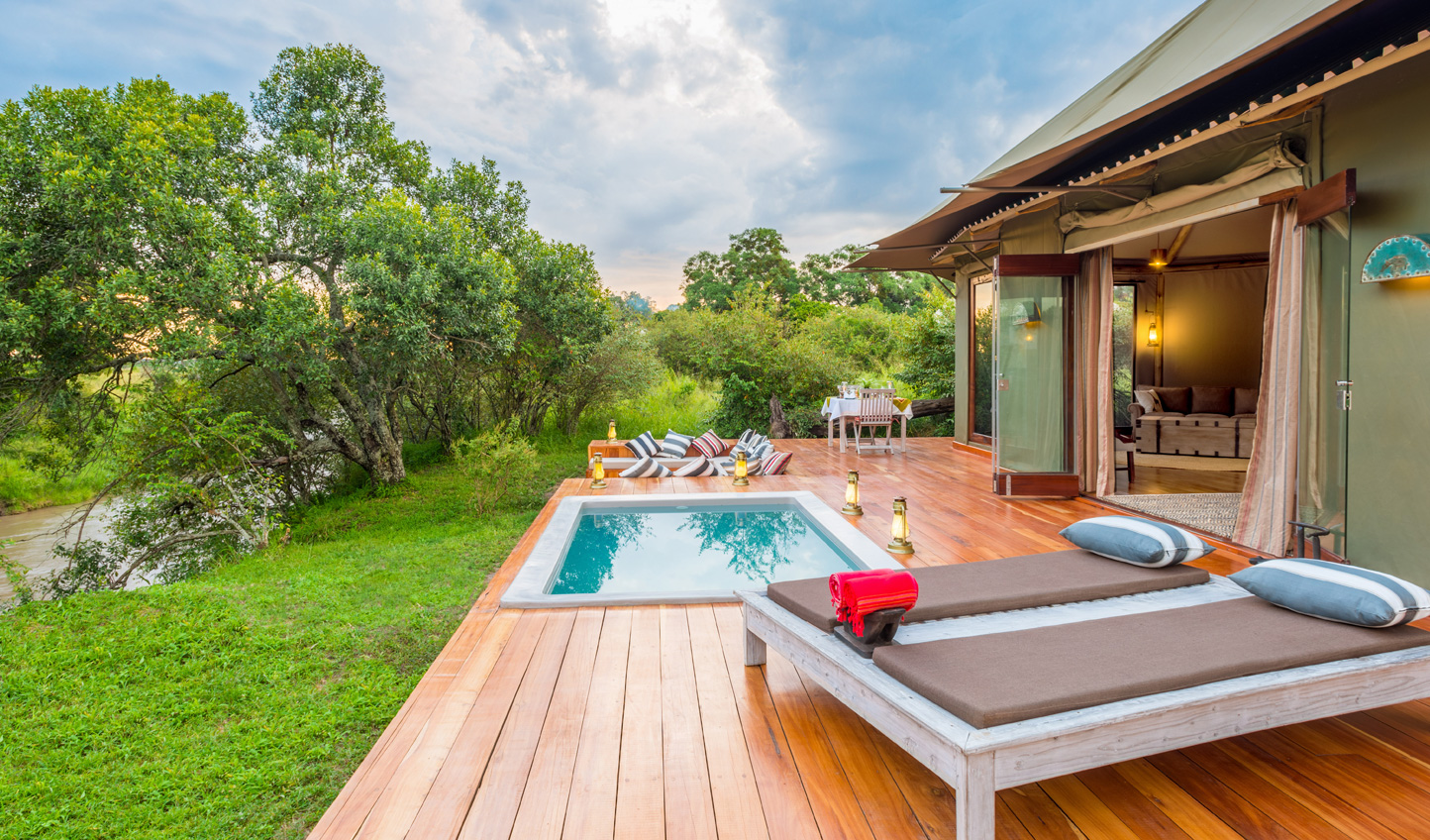 Catch sight of river crossings from the comfort of your private plunge pool