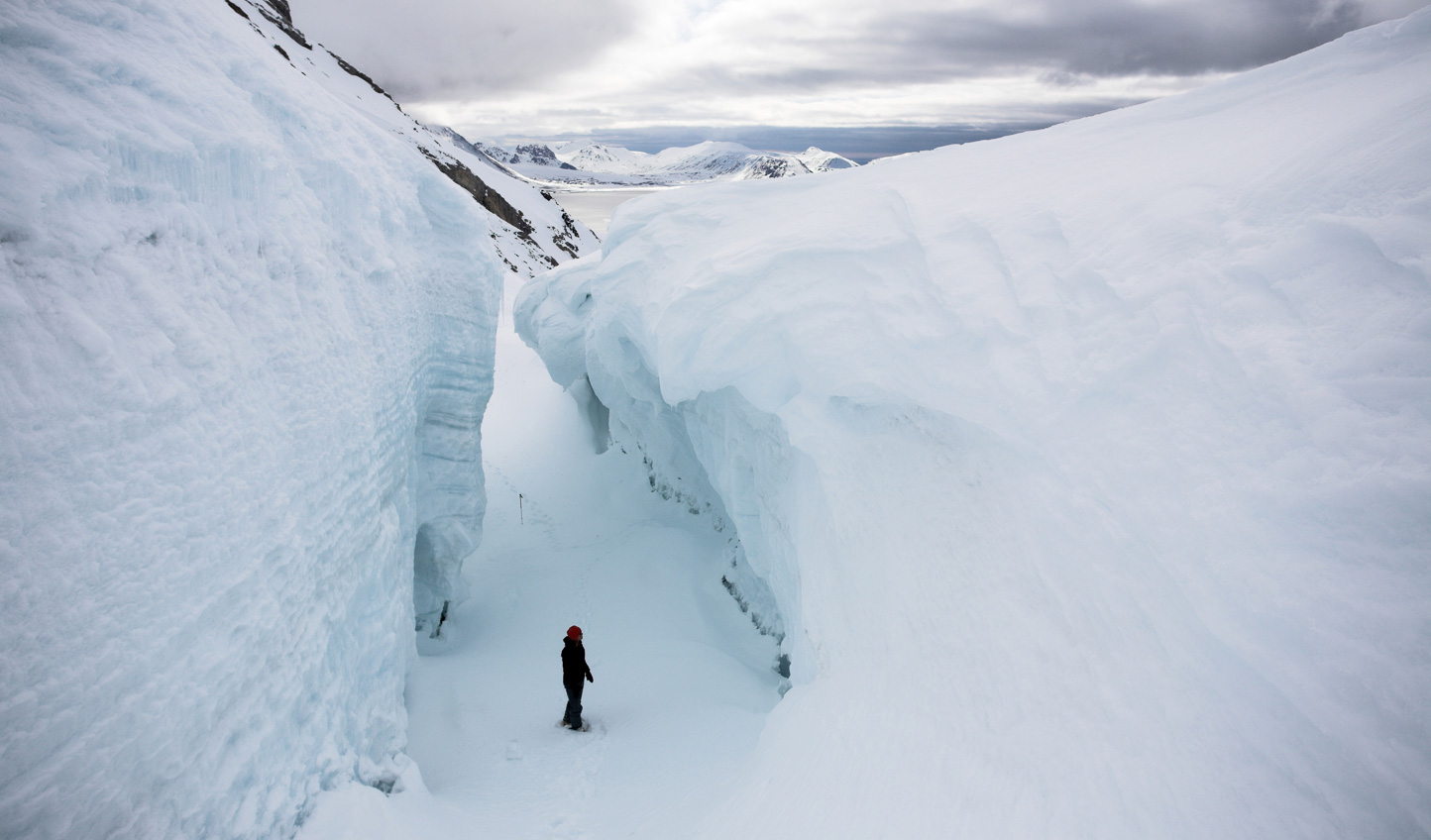 Venture into deep crevasses