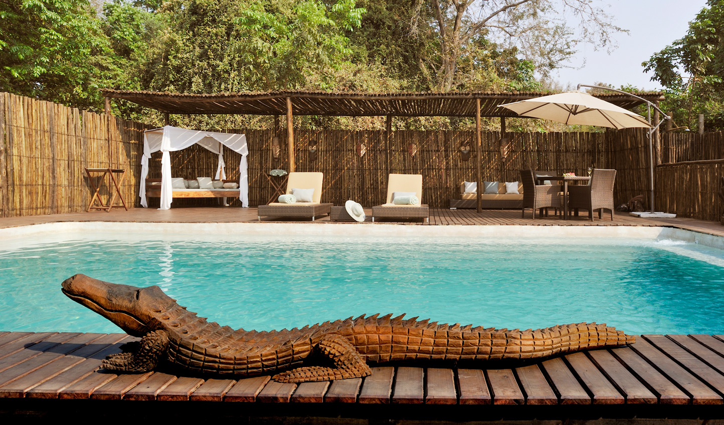 Cool off from the African heat by the pool