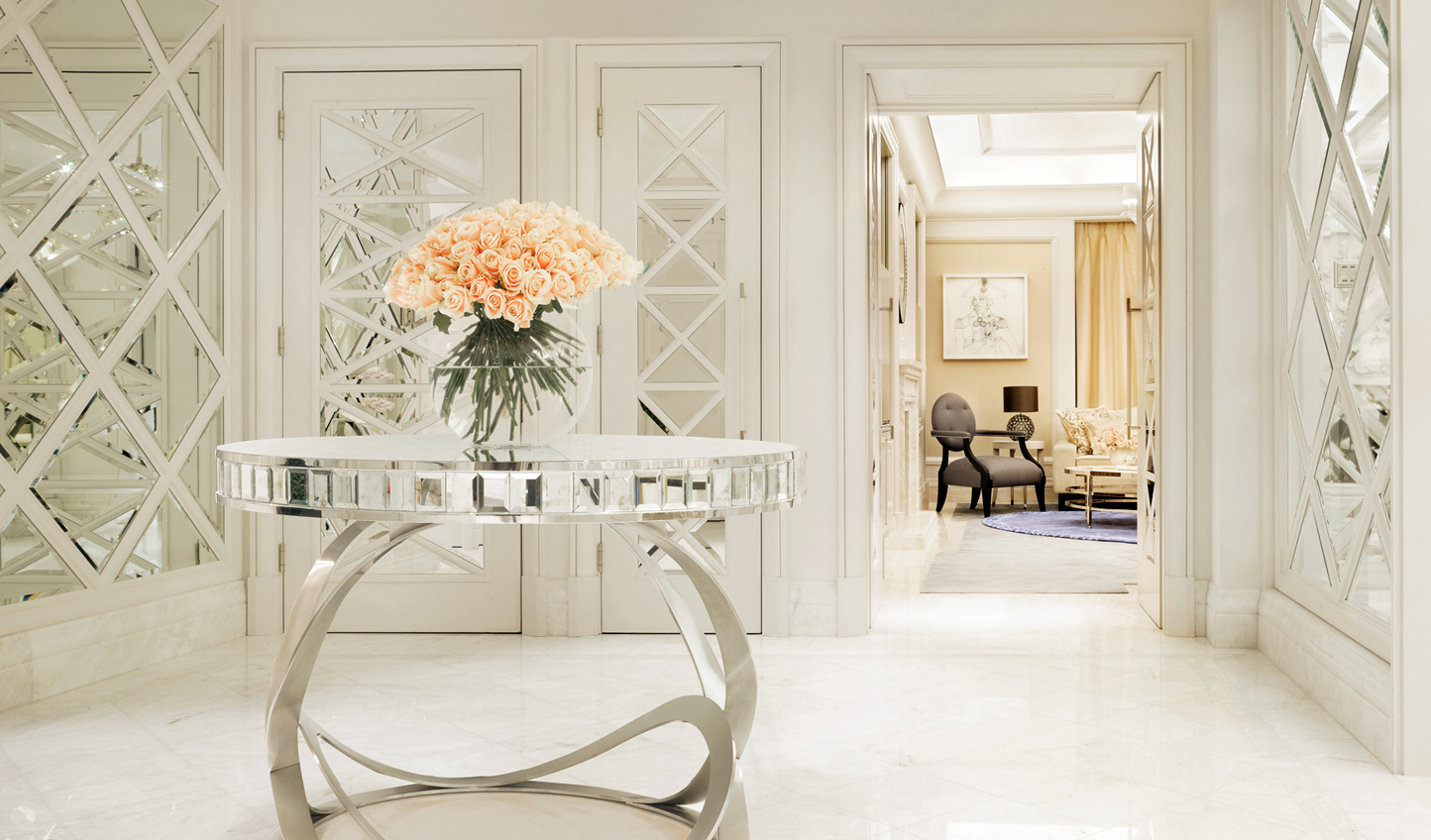 Fragrant blooms, arranged in house, fill the Corinthia