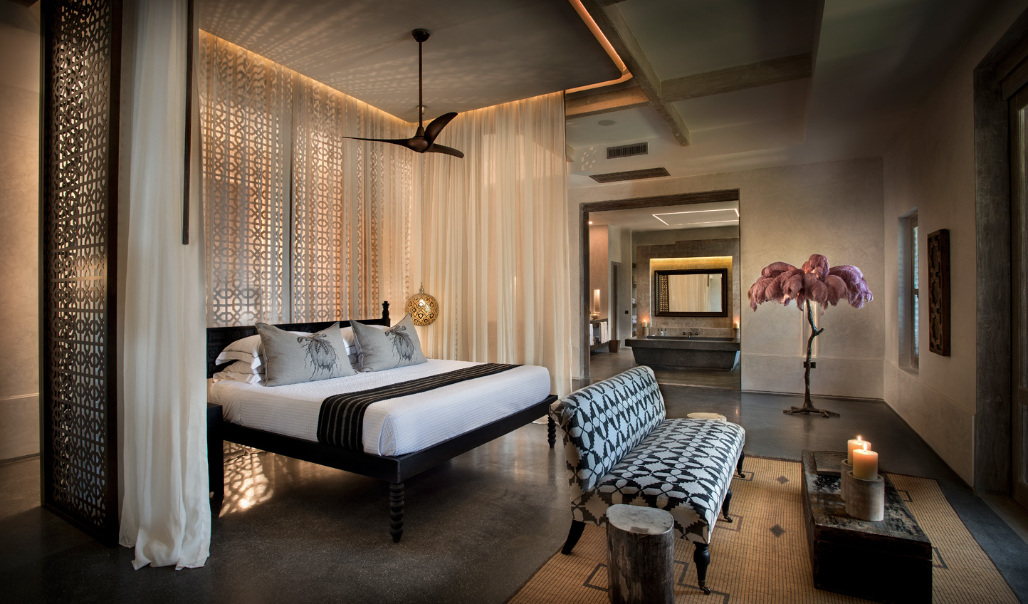 Sleek and contemporary designs in the rooms