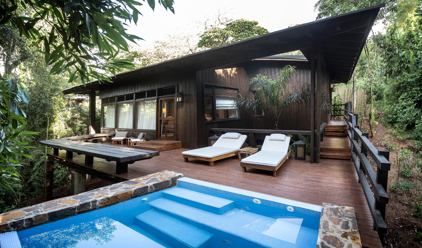 Relax in your private plunge pool and listen to bird song