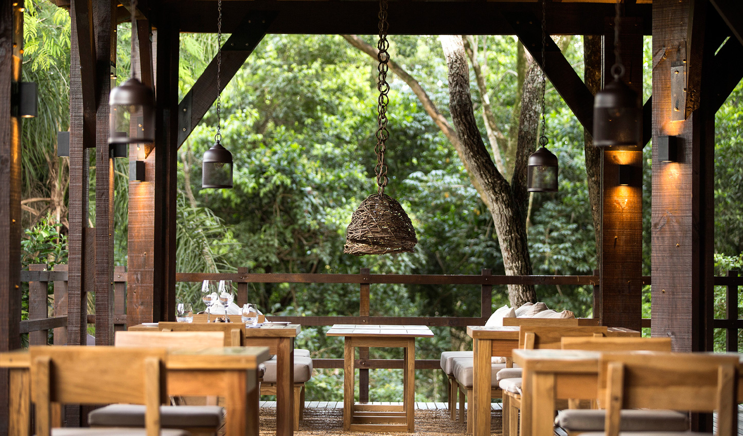 Eat delicious seasonal produce in the heart of the rainforest