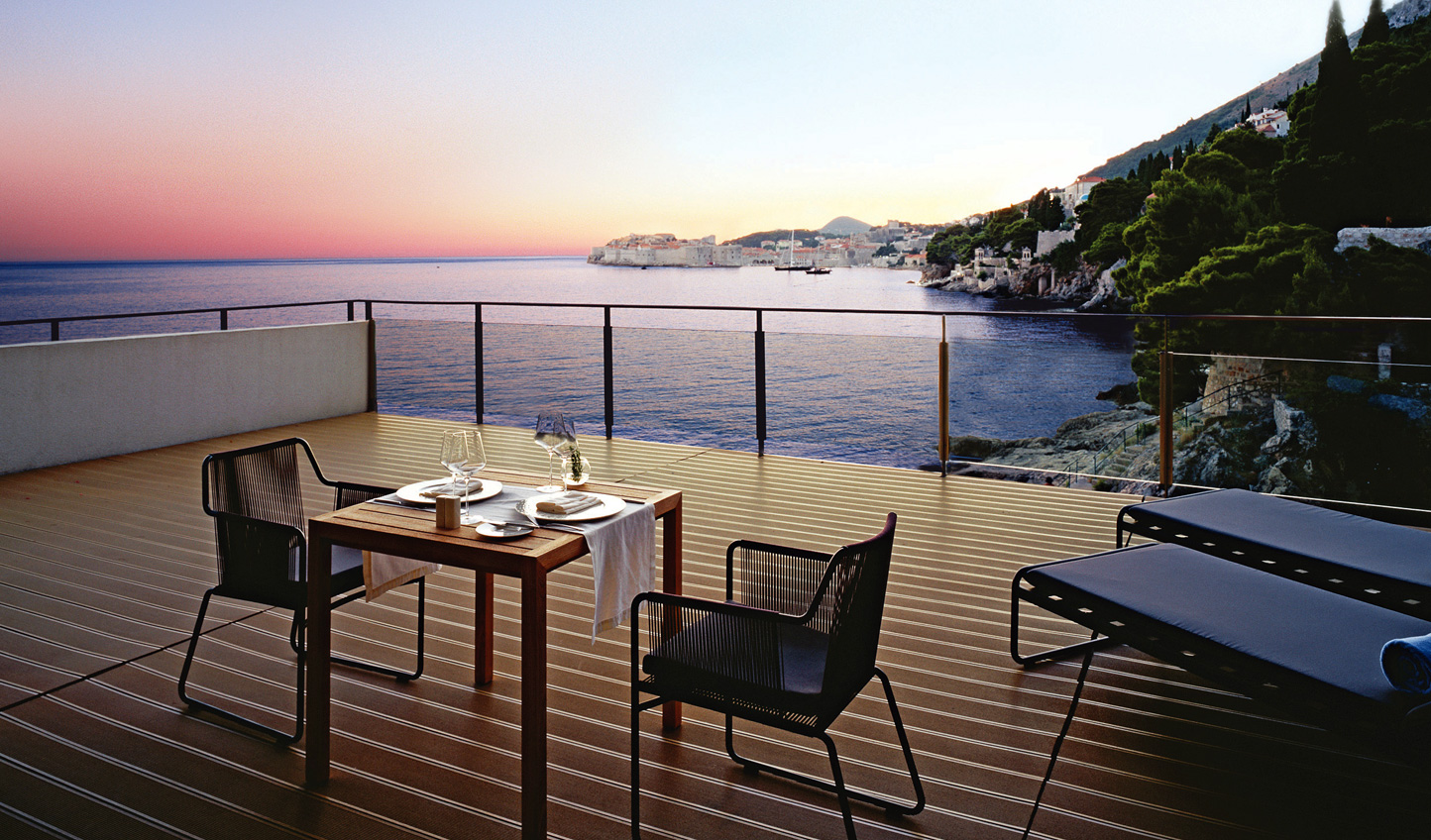 Suite terrace at Villa Dubrovnik