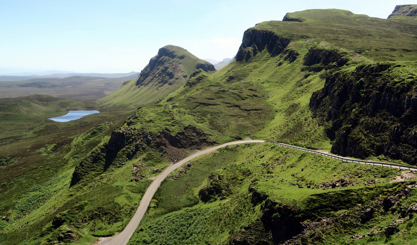 Wind your way through the dramatic landscapes of Skye