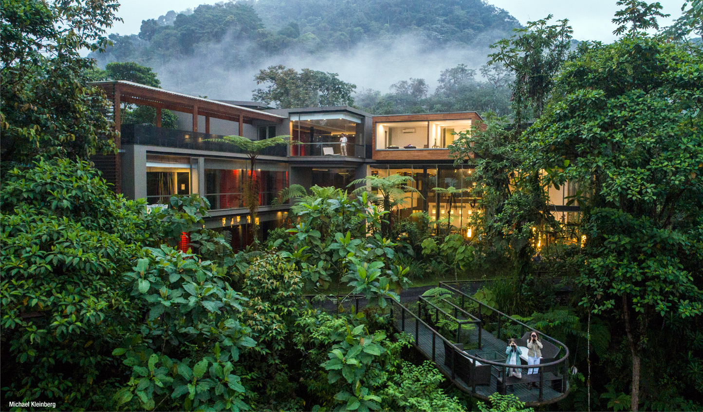 Step into an architectural masterpiece in the heart of the Choco Cloud Forest © Michael Kleinberg