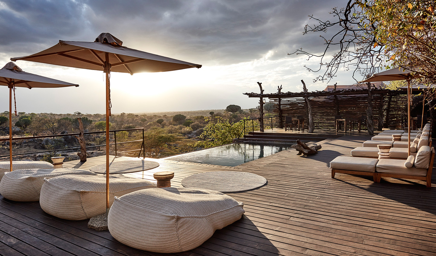 Relax out by the pool and enjoy the view