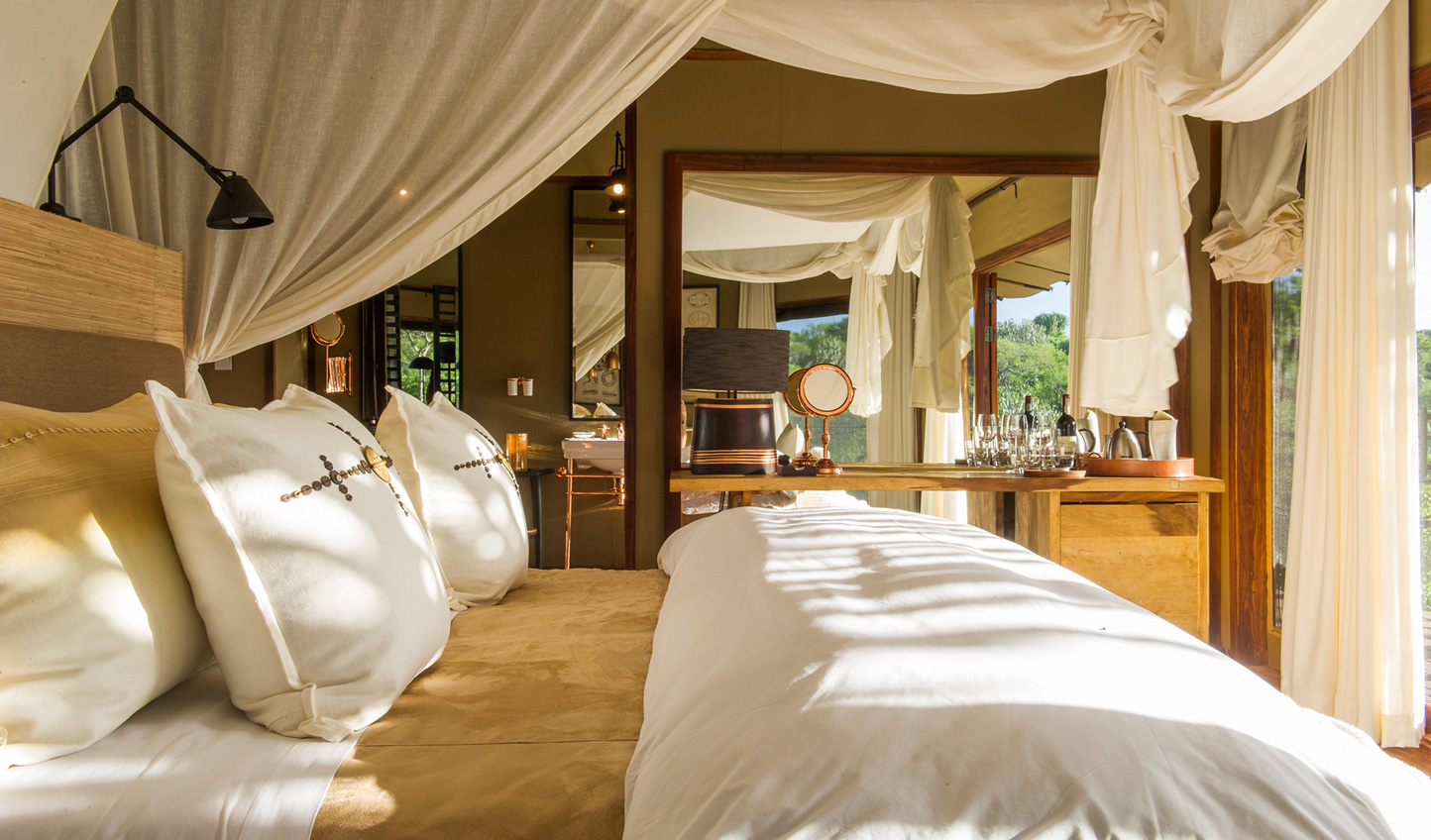 Traditional elegance meets modern luxury in your tented suite