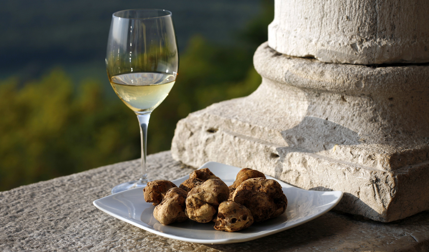 Sample fine wines and indulgent truffles
