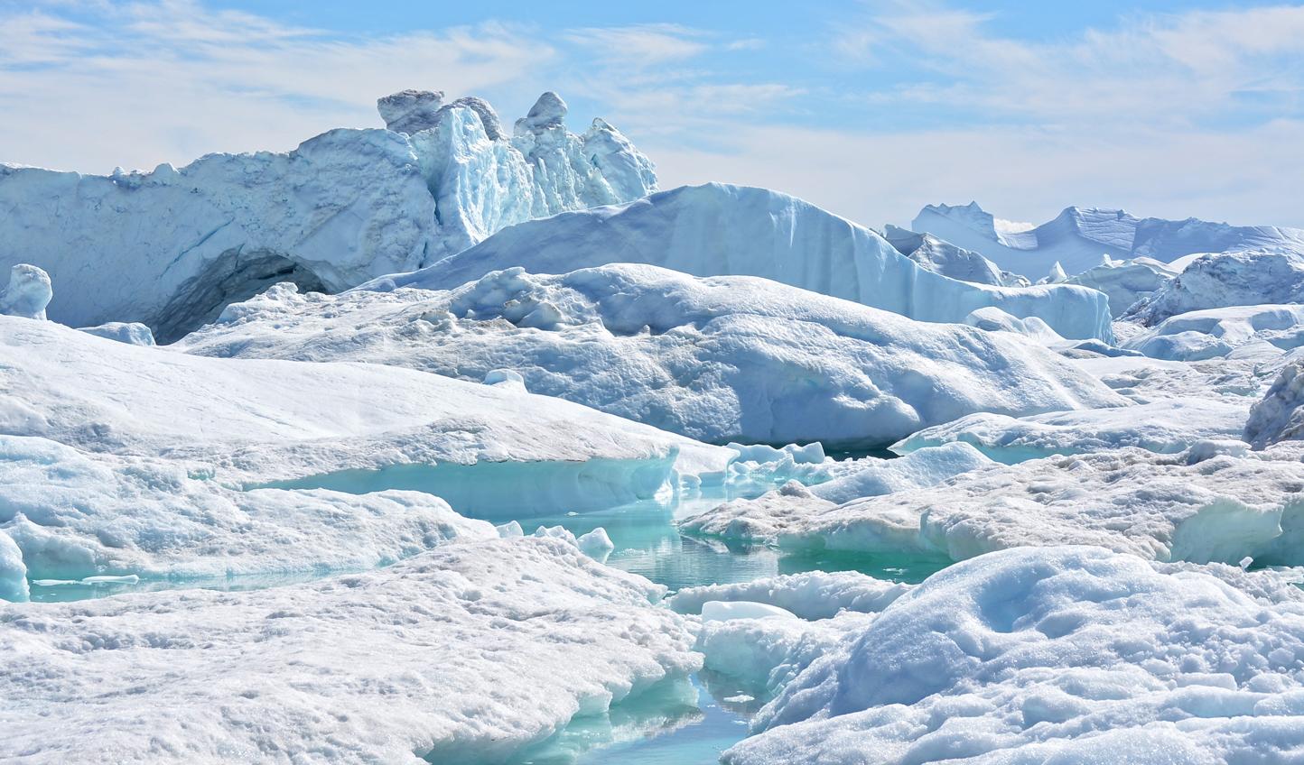Disco Bay, swarmed with beautiful icebergs