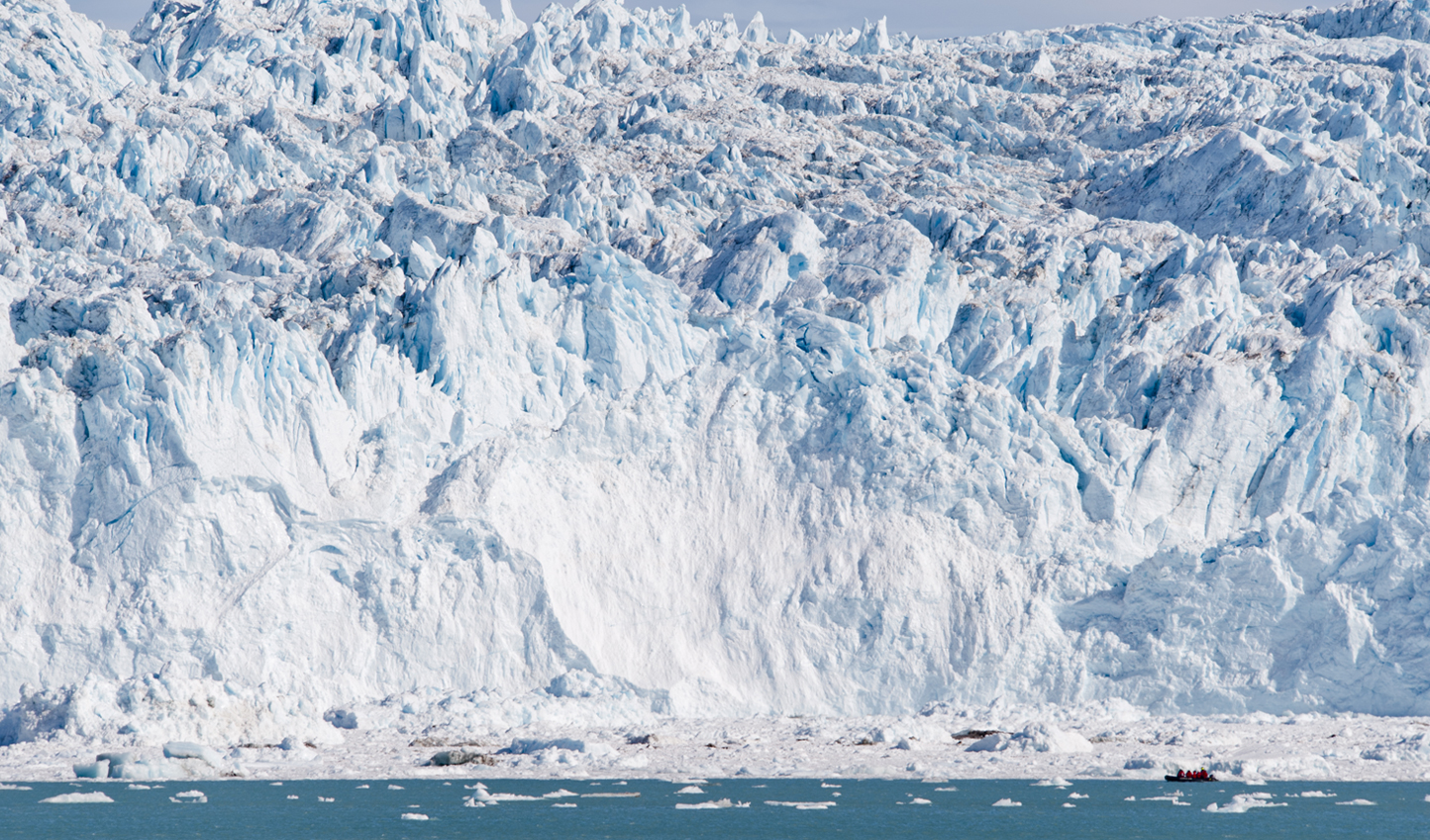 Get up and close to Eqi Glacier