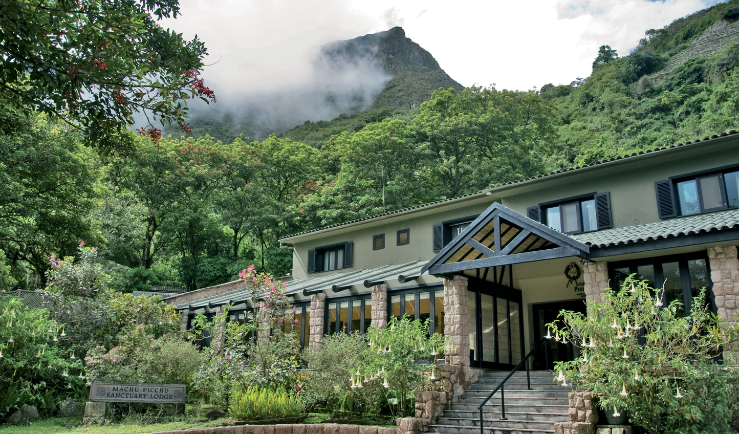 Belmond Sanctuary Lodge in the clouds