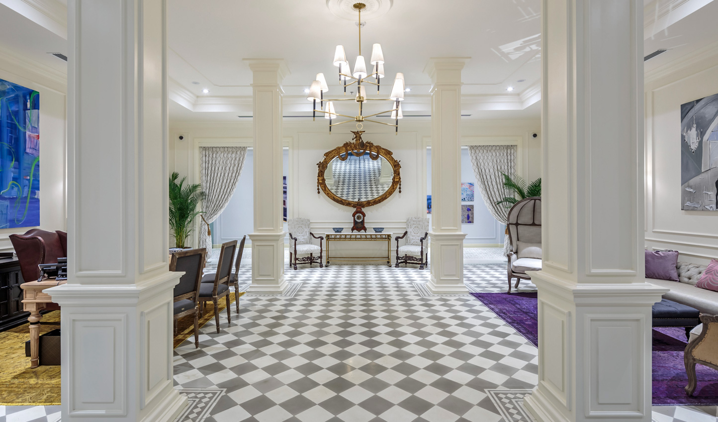Make an entrance in the stunning lobby