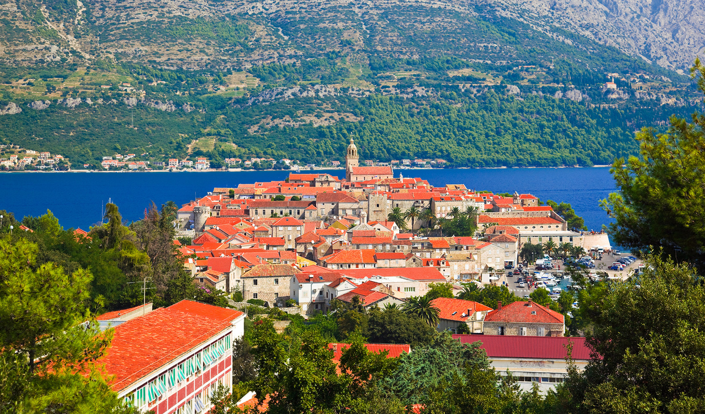 Korcula Island, arrival by private cruise