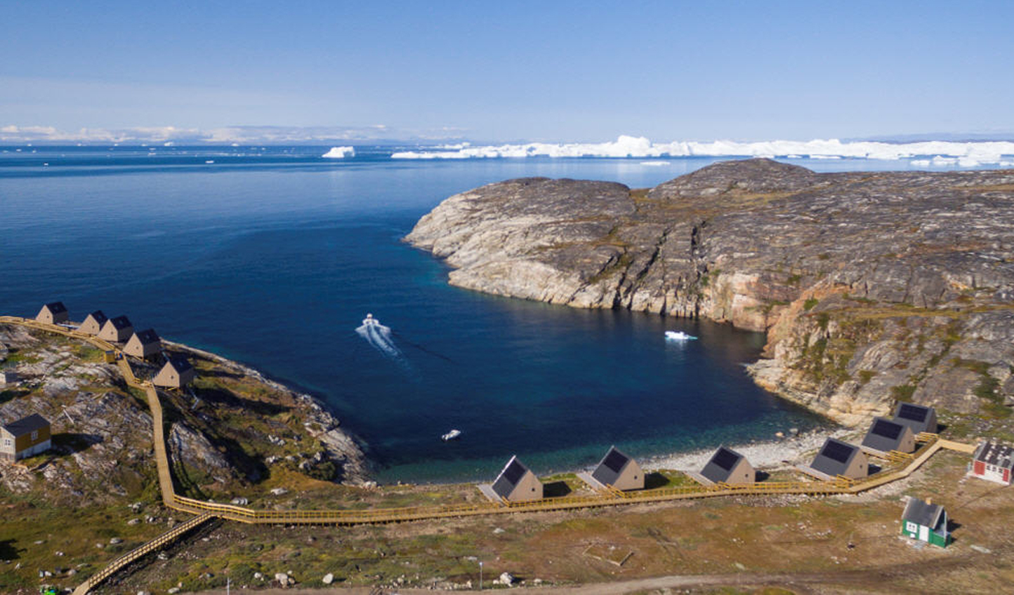 One of these cabins will be yours in Disko Bay