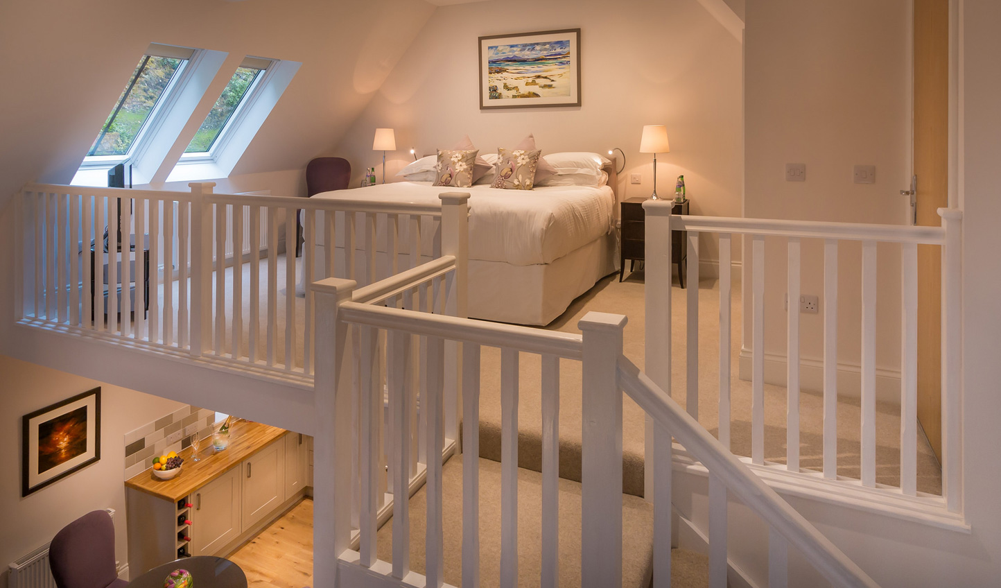 A loft bedroom, perfect for a family holiday