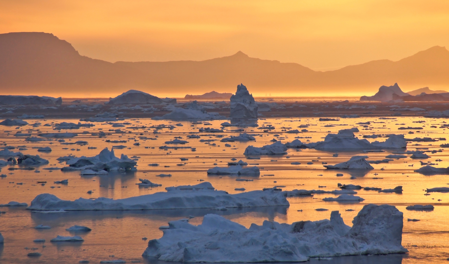 Watch the sunset over the largest glaciers in the world