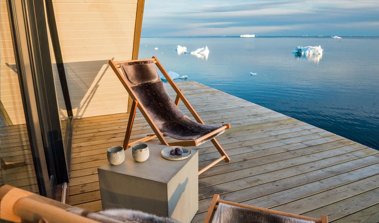 A private terrace at Ilimanaq Lodge