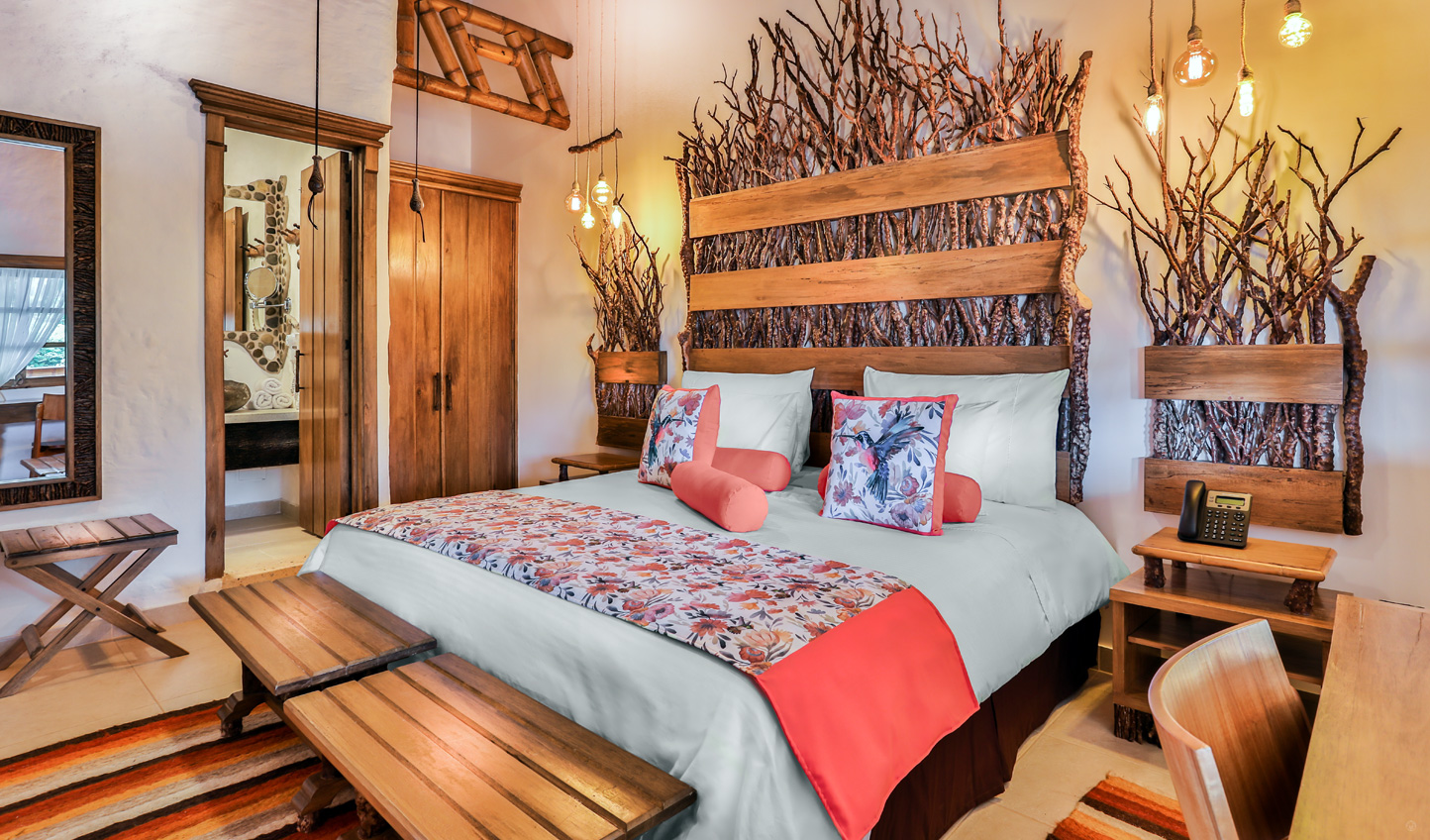 Check into your stylish suite at Casa San Carlos