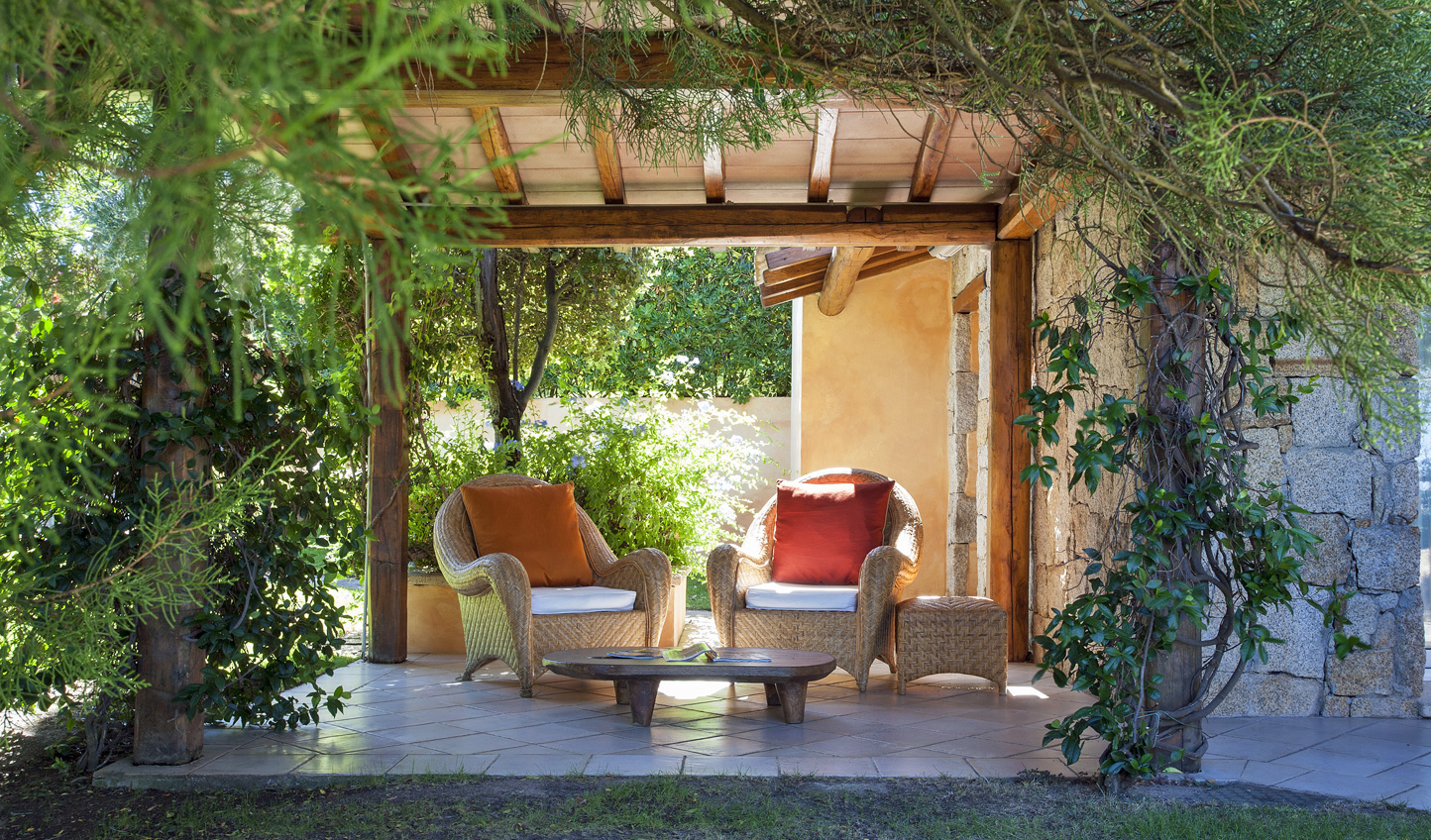 Relax in the shade of the bouganvillea