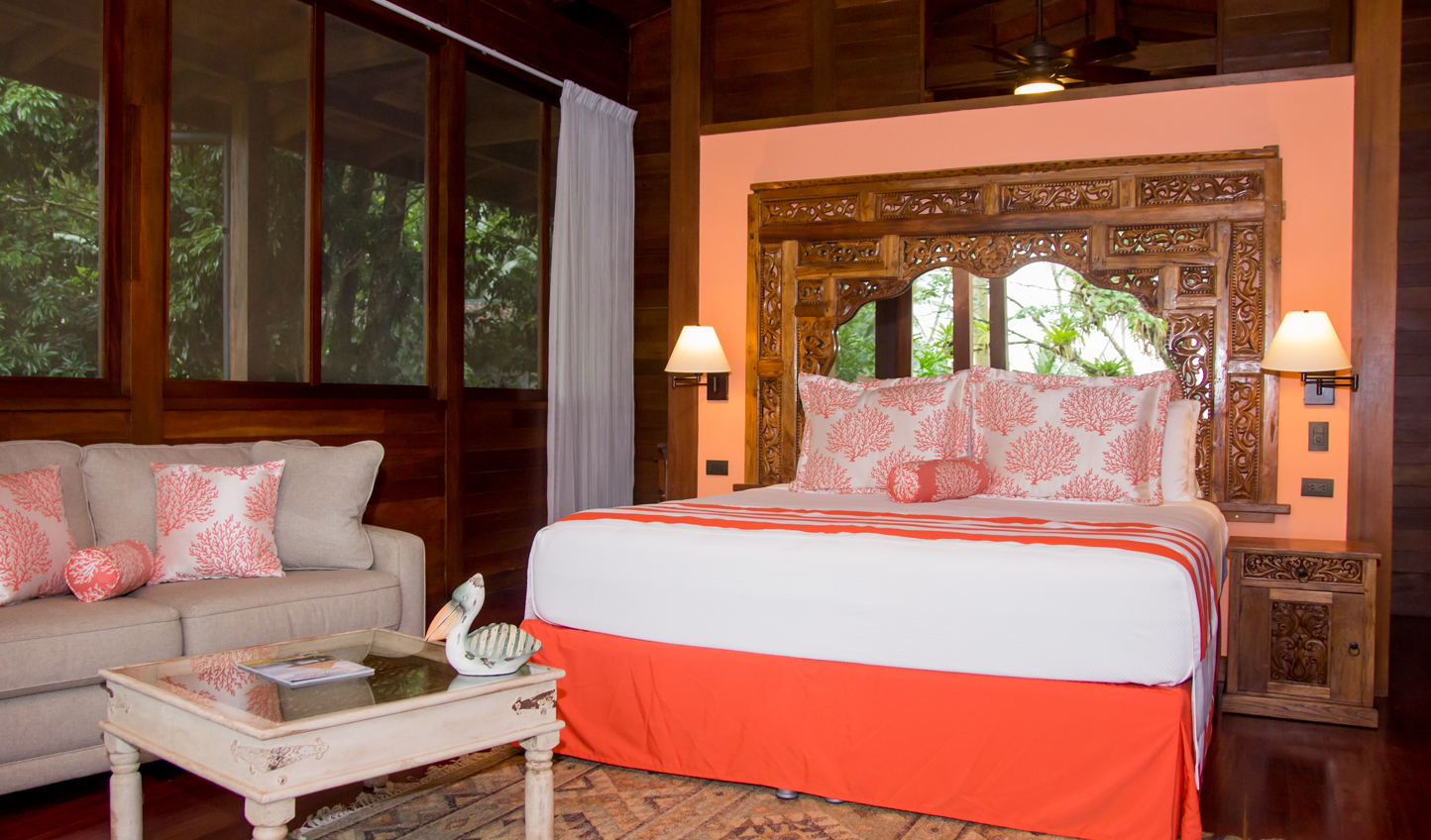 All of the bedrooms at Playa Cativo are bright and airy