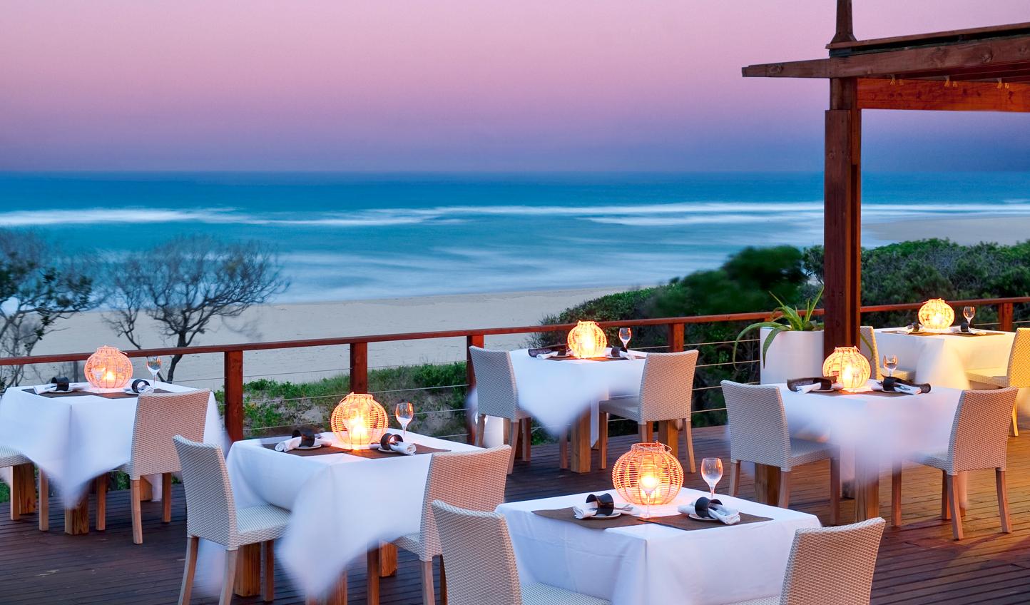 The resort restaurant specializes in Mozambique delicacies