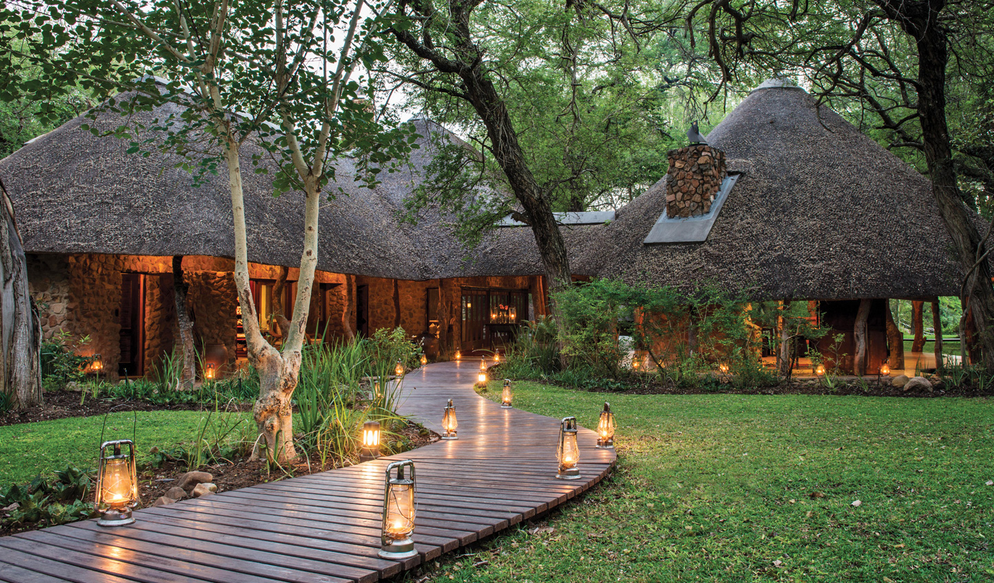 The entrance to Dulini Lodge
