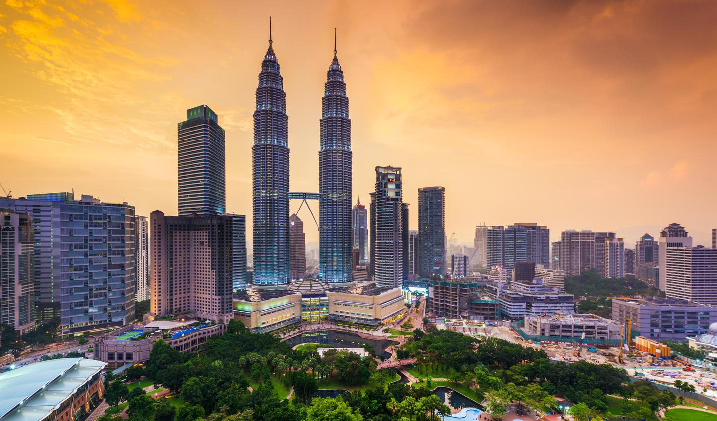 The impressive Kuala Lumpur skyline