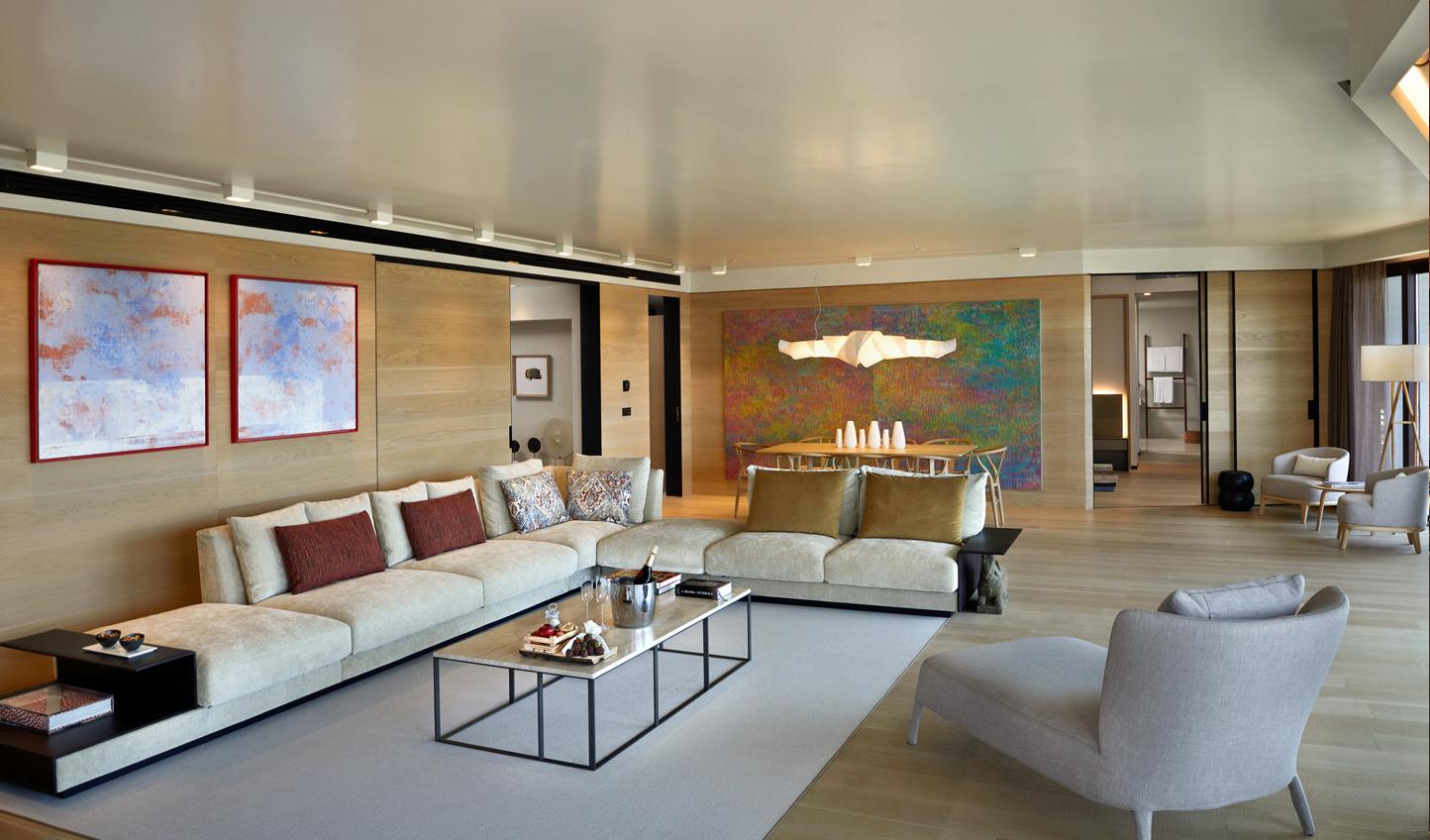 Contemporary artwork meets comfortable luxury