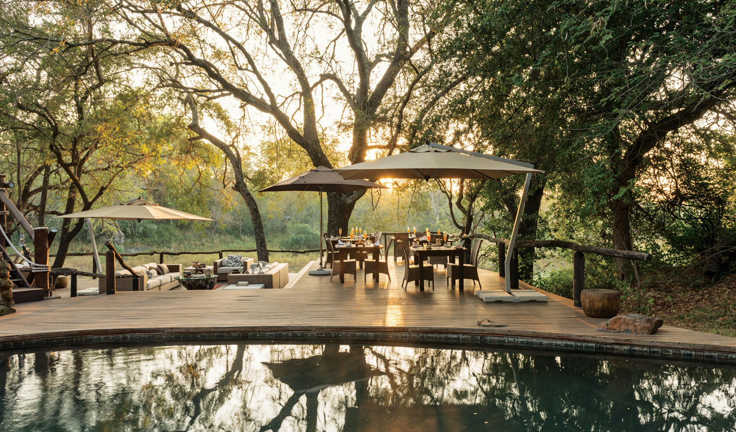 The lodge pool inviting you in for a swim before dinner