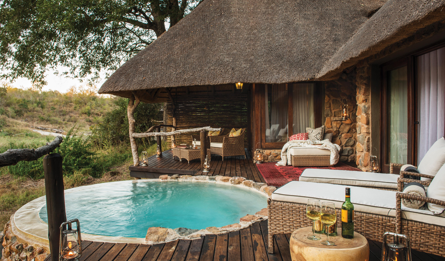 Take a dip in your private plunge pool after a morning safari