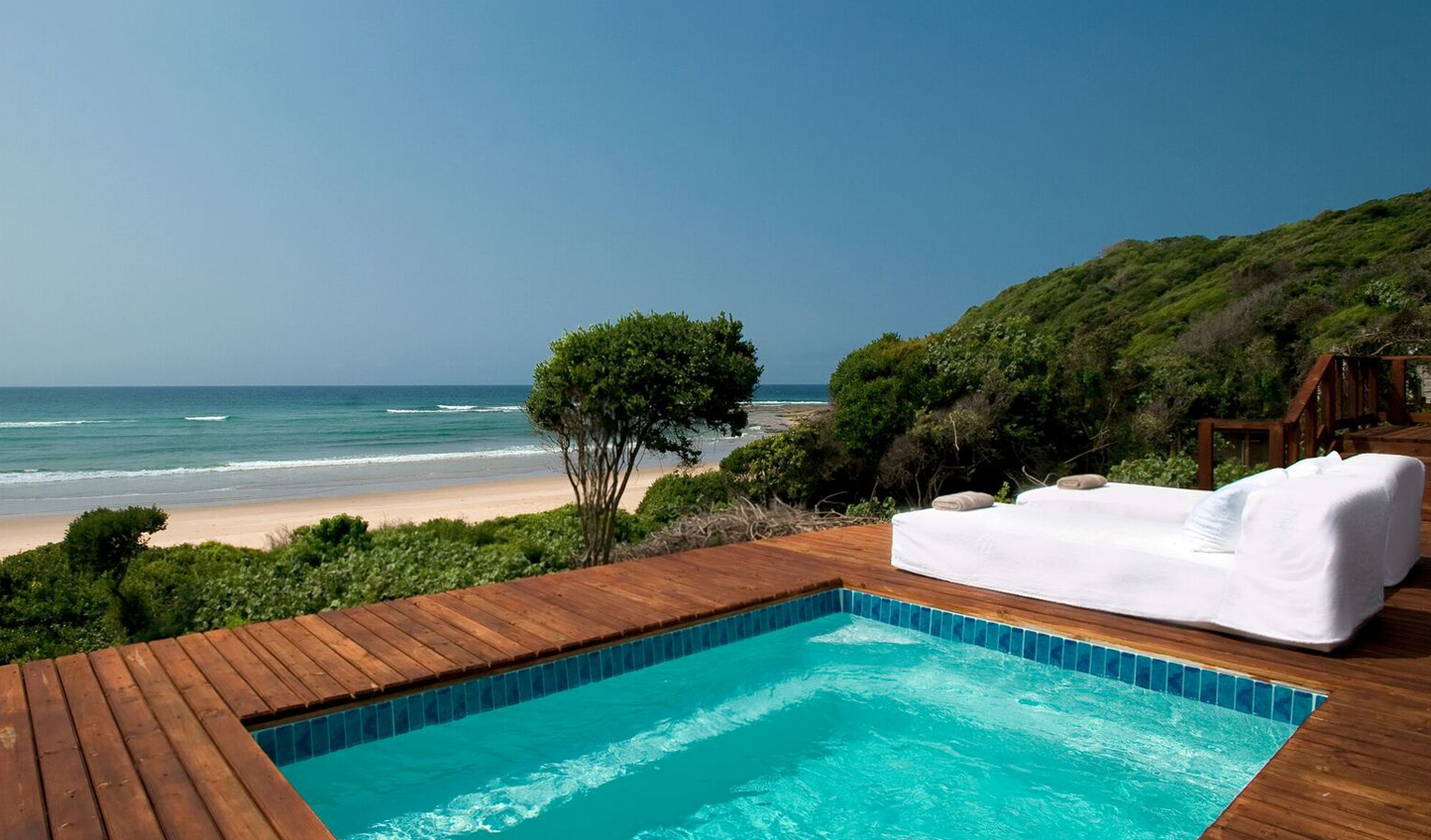 A private plunge pool for every beachside suite