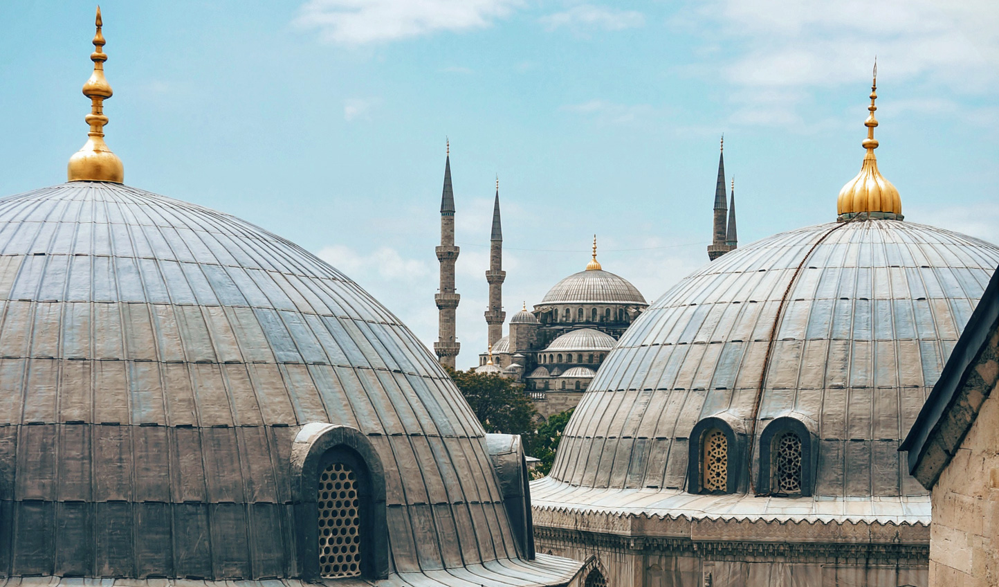 A city of towering spires; Istanbul
