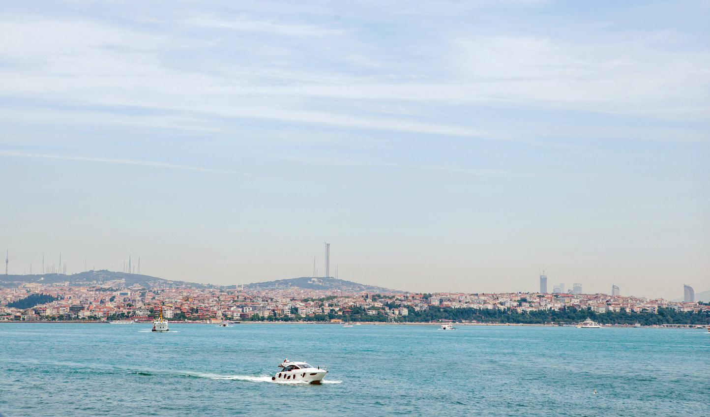 Cruise along the glimmering waters of the Bosphorus