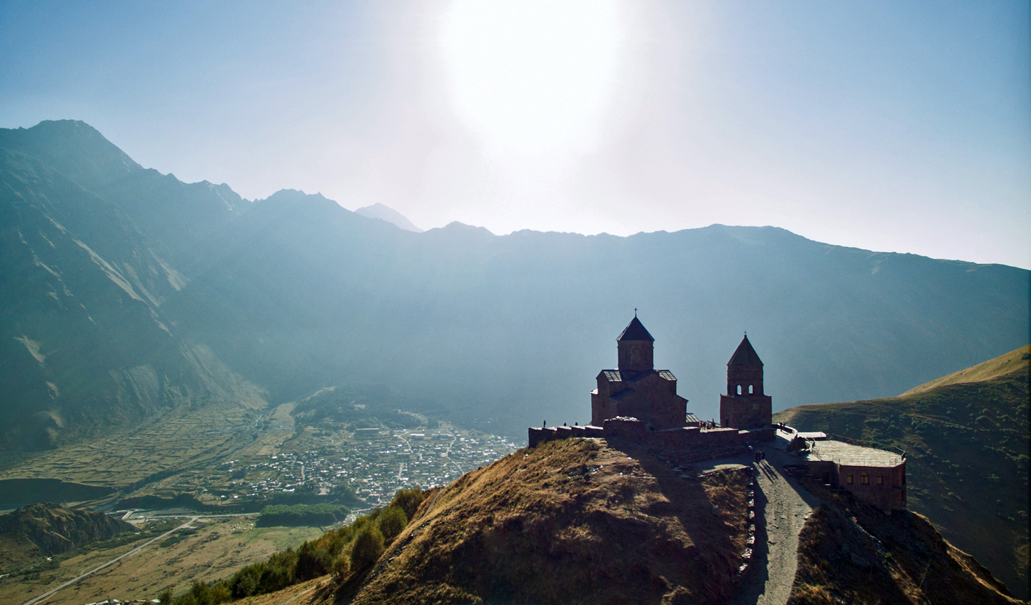 Make your way up  to Gergeti Trinity Church for awe-inspiring views over the valley