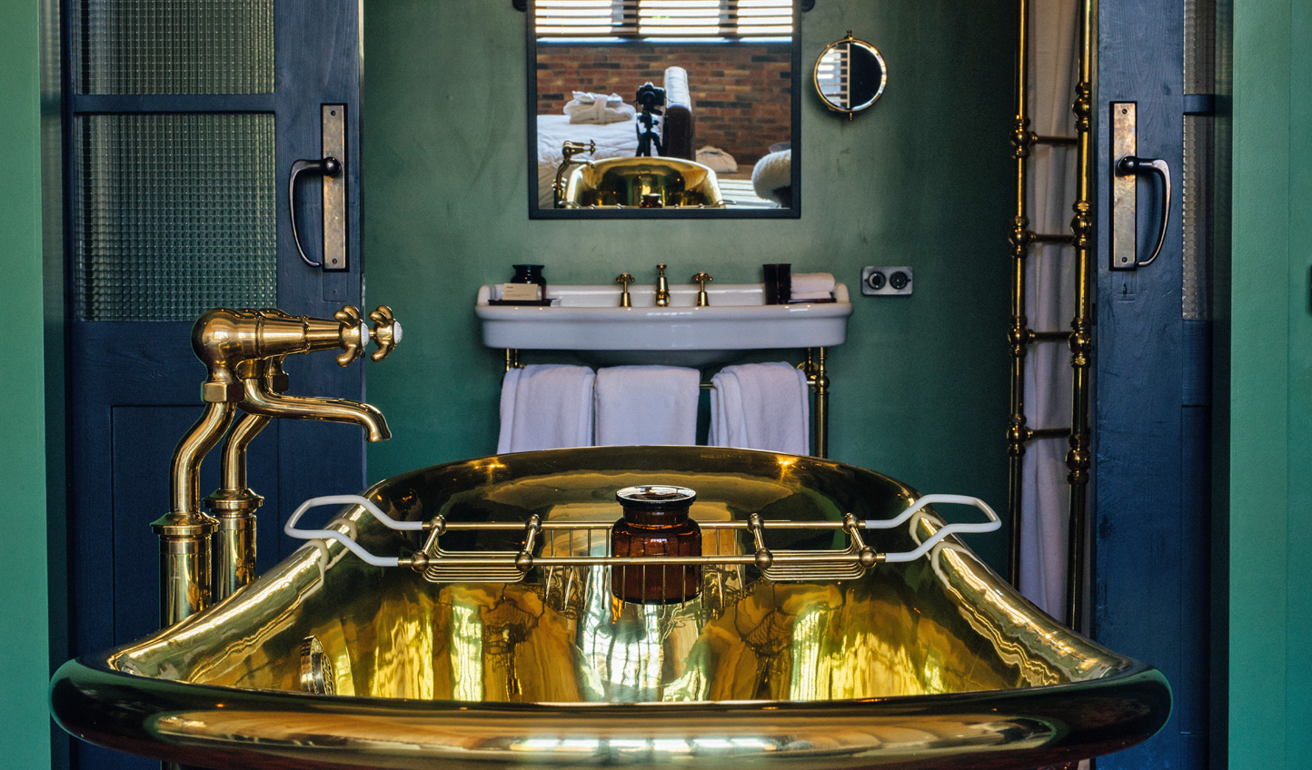 Sink into a deep bathtub in the quirky bathrooms