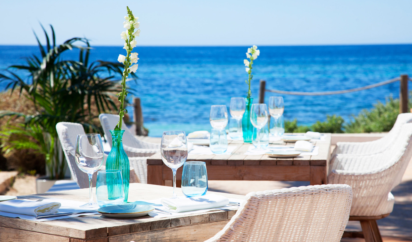 Dine alfresco beneath the Balearic sunshine