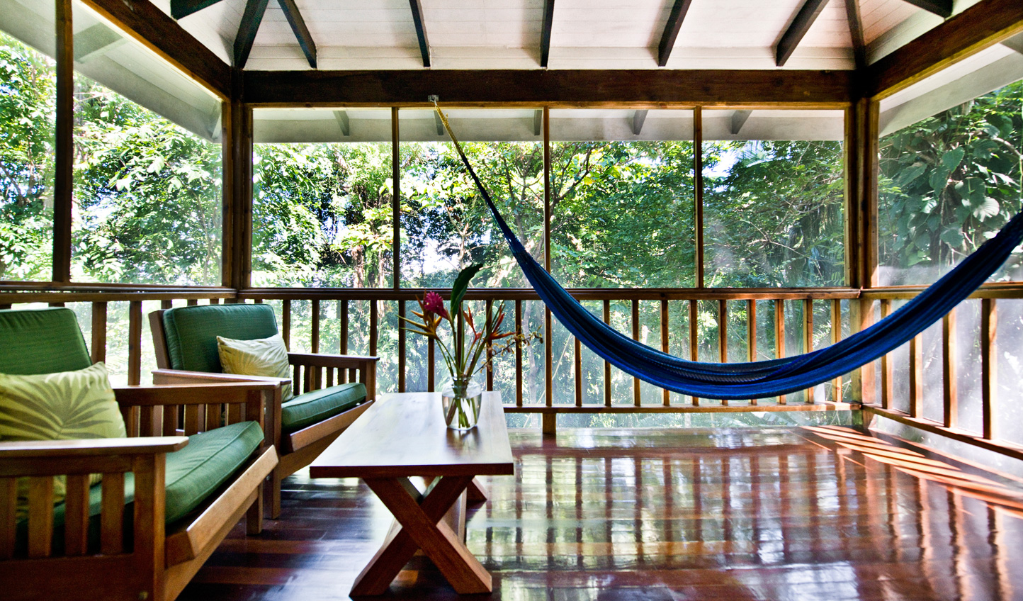 Relax on your private deck and listen to the sounds of the jungle