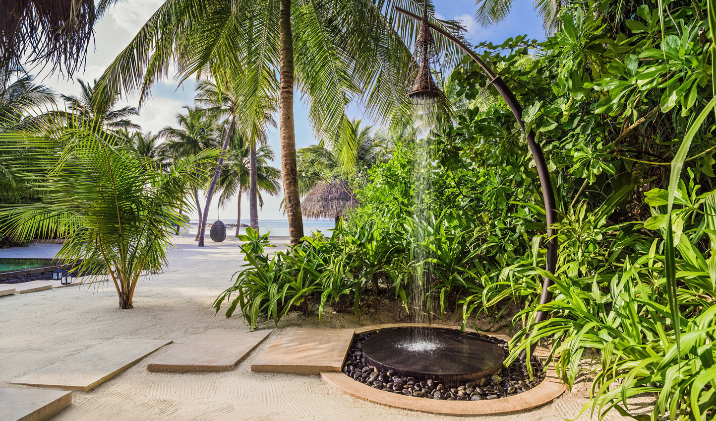 Outdoor showers are our favourite tropical staple