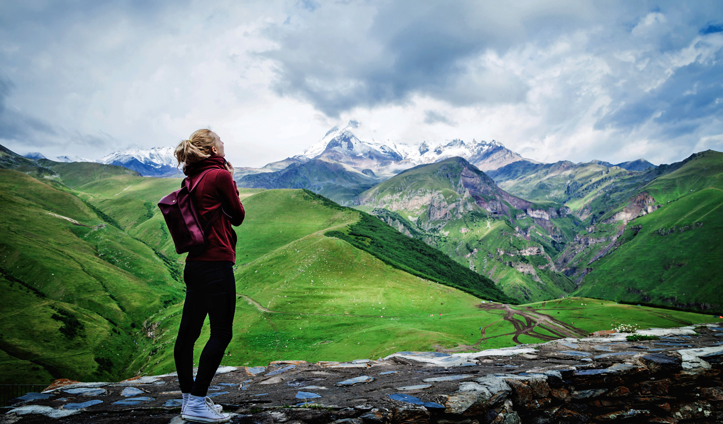 Hike through the Caucasus mountains of Kazbegi
