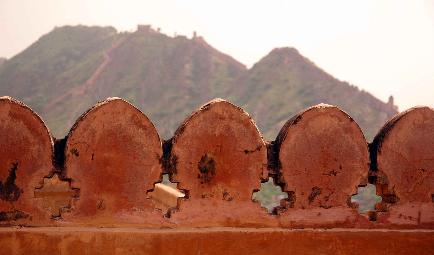 Walk along the ramparts overlooking the city below