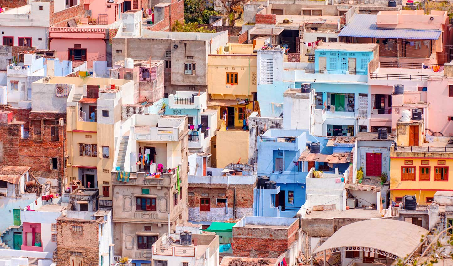 Swap the blues of Jodhpur for the pretty pastels of Udaipur