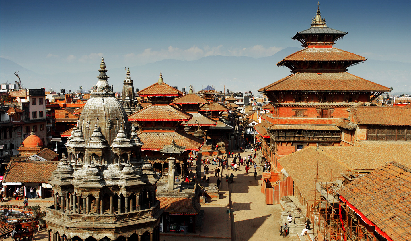 Cut through the maze of backstreets to Durbar Square where you can hone your haggling skills in the market