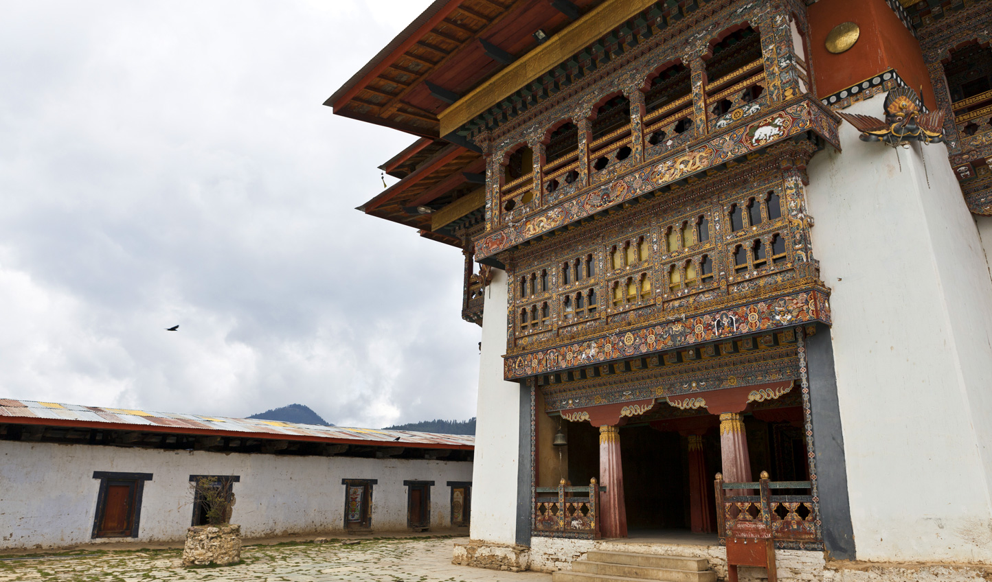 Arrive early at Gangtey Monastery to the sound of the monks chanting