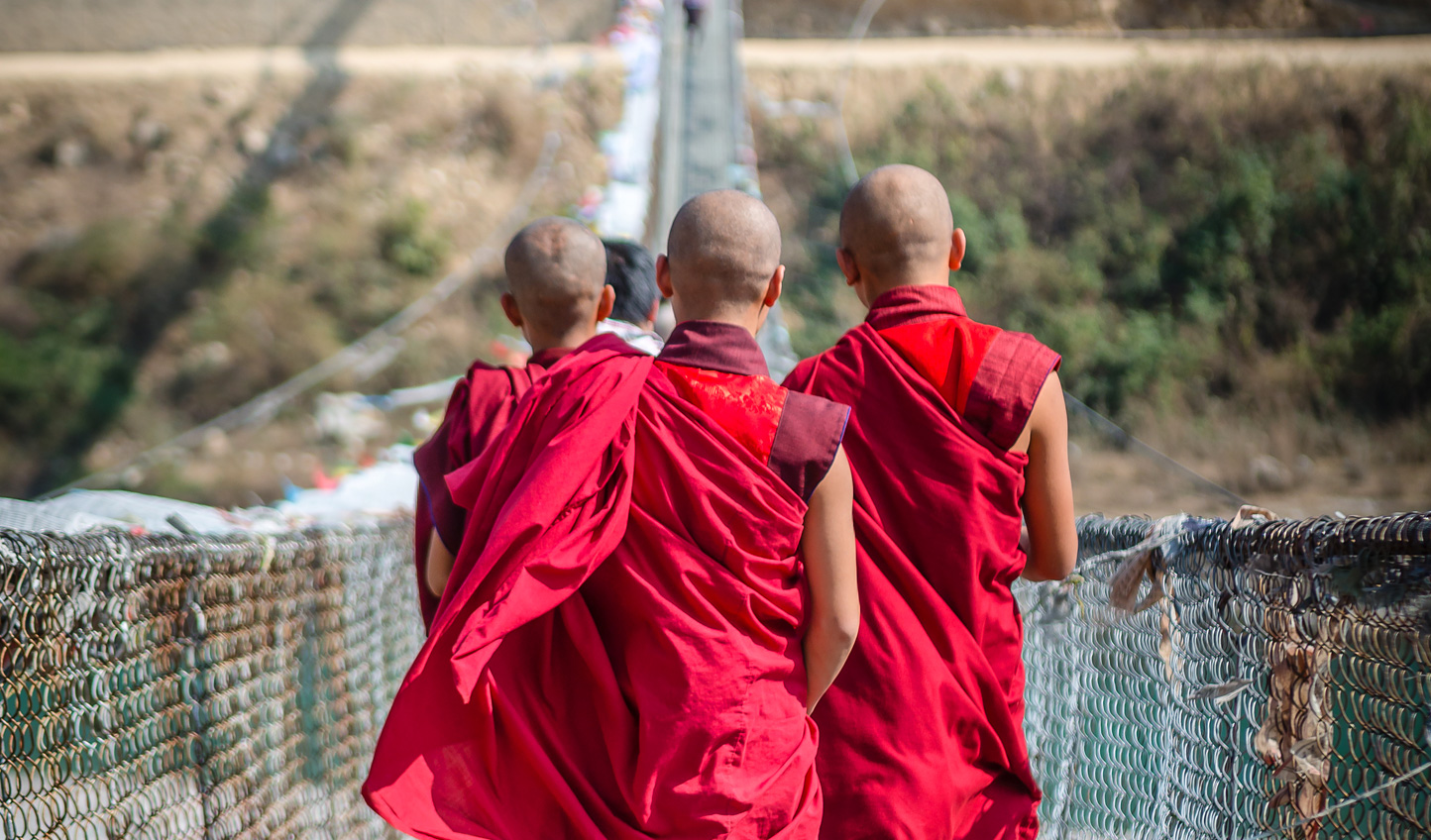 Embrace Bhutan's spiritual side as you spend time with local monks