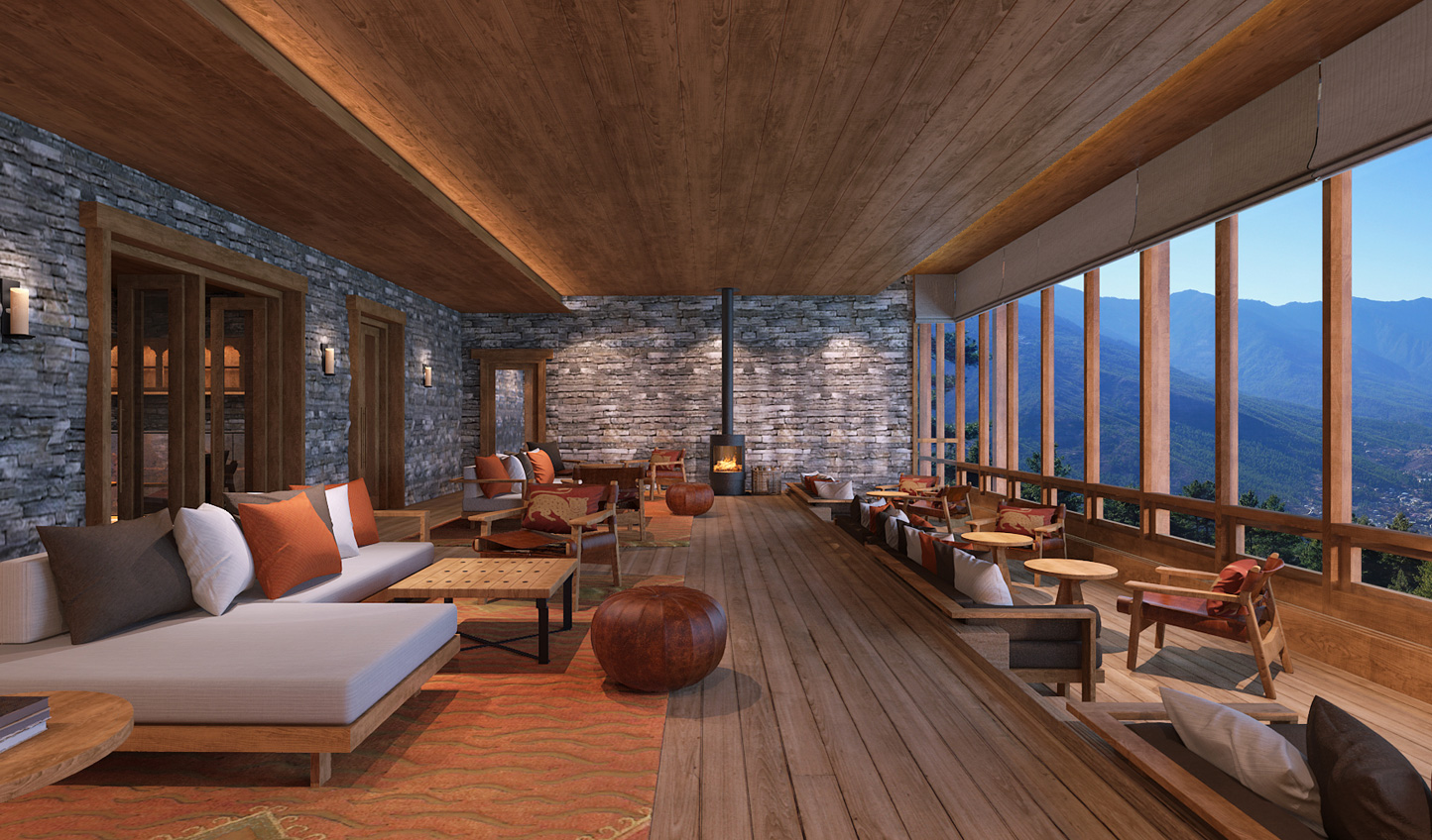 Soak in the views from Six Senses Paro